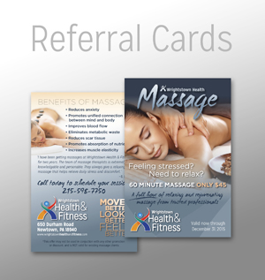 WHF 13 Massage Postcard